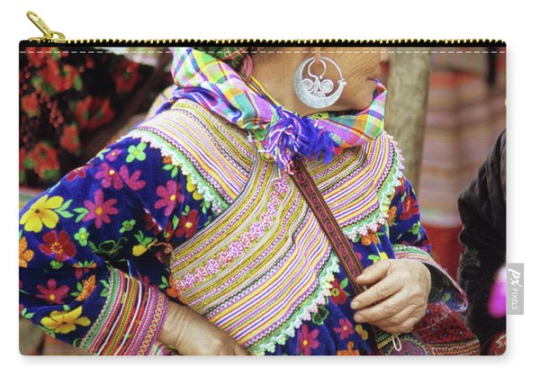Flower Hmong Woman 09 Carry-all Pouch