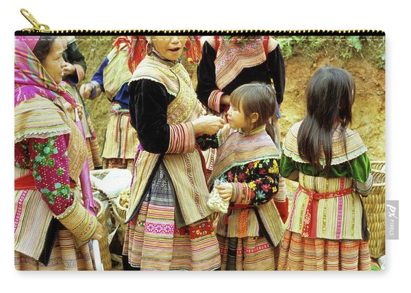 Flower Hmong Women And Girls Carry-all Pouch