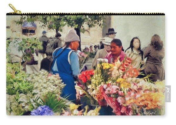 Flower Market - Cuenca - Ecuador Carry-all Pouch