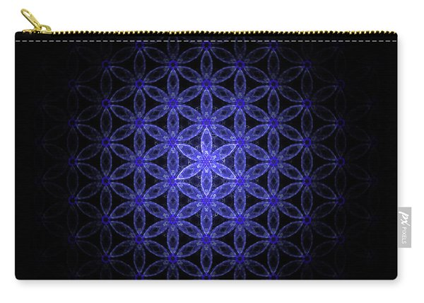 Flower Of Life In Blue Carry-all Pouch