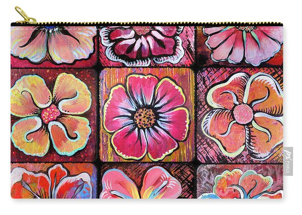 Flower Power Montage Carry-all Pouch