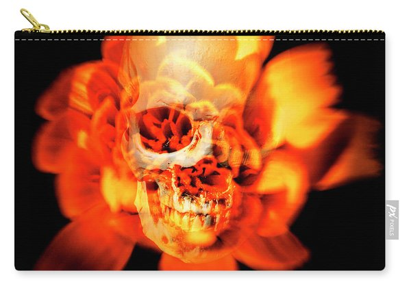Flower Skull Carry-all Pouch