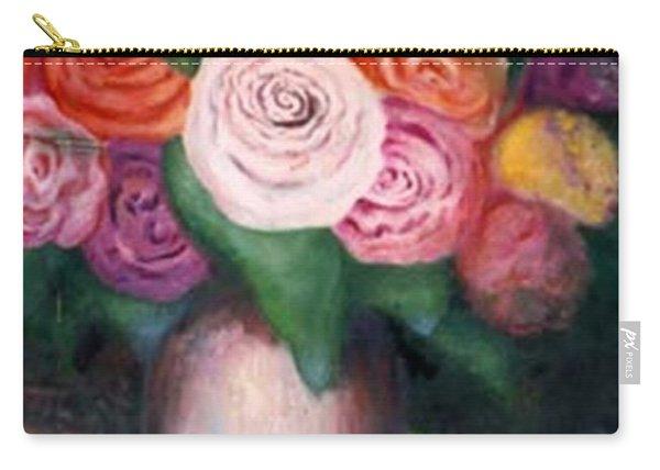 Flower Spirals Carry-all Pouch