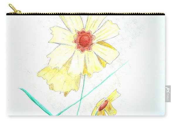 Carry-all Pouch featuring the drawing Flower78 by Loretta Nash