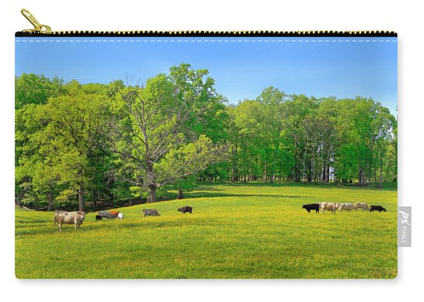 Flowering Cow Pasture Carry-all Pouch