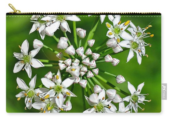 Flowering Garlic Chives Carry-all Pouch