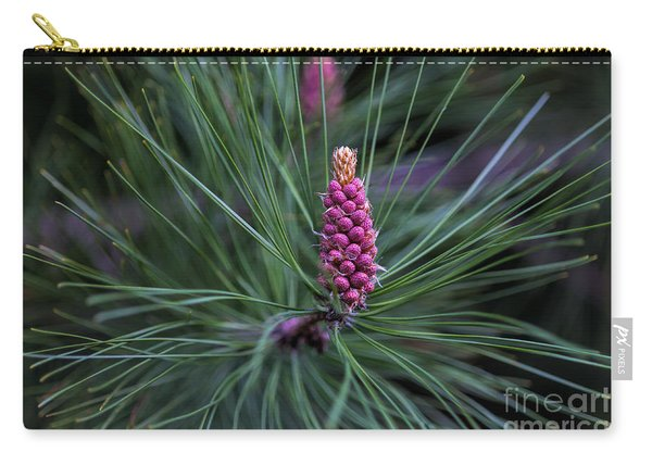 Flowering Pine Cone Carry-all Pouch