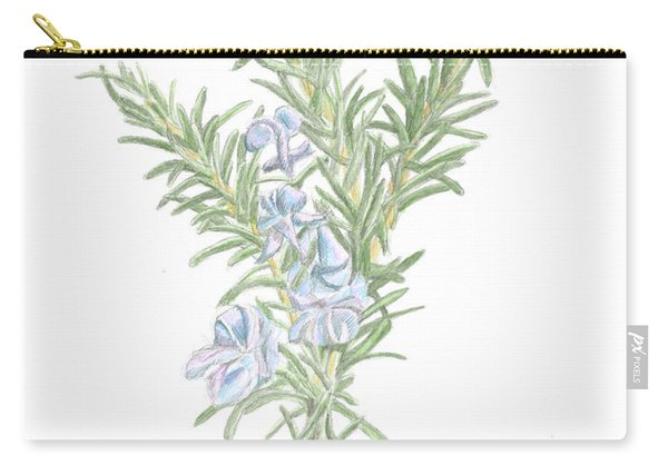 Flowering Rosemary Carry-all Pouch