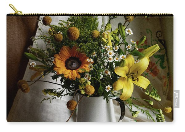 Flowers And Lemons Carry-all Pouch