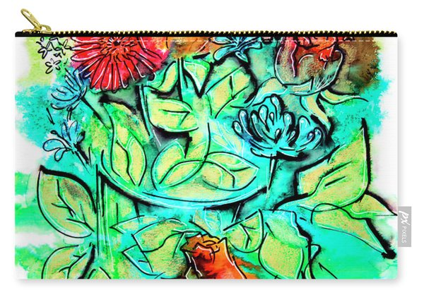 Flowers Bouquet, Illustration Carry-all Pouch