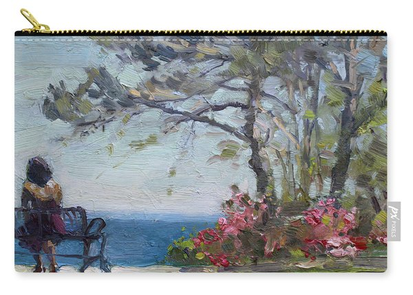 Flowers By Lake Ontario Carry-all Pouch
