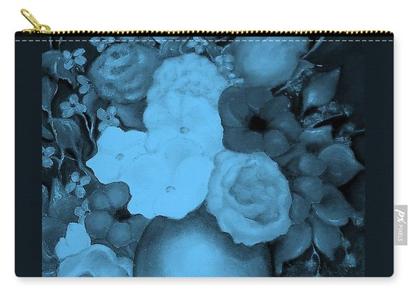 Flowers In Blue Carry-all Pouch