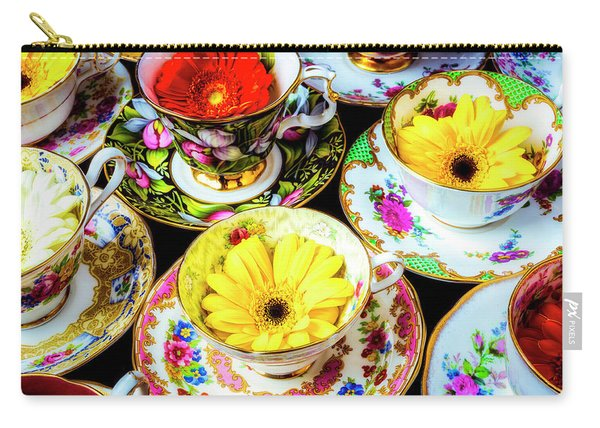 Flowers In Tea Cups Carry-all Pouch