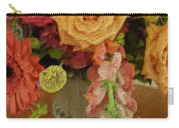 Flowers In Vase Carry-all Pouch