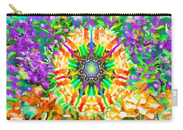 Flowers Mandala Carry-all Pouch