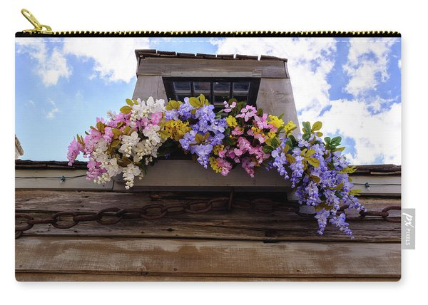Flowers On A Rooftop Balcony In Saint Augustine Florida Carry-all Pouch