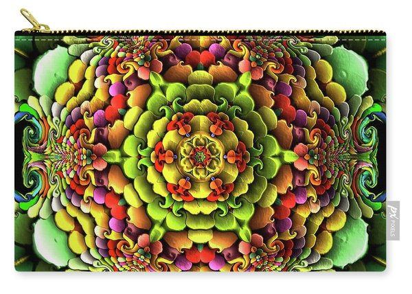Carry-all Pouch featuring the digital art Flowerscales 61 by Robert Thalmeier
