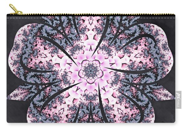 Carry-all Pouch featuring the digital art Flowing Autumn by Derek Gedney