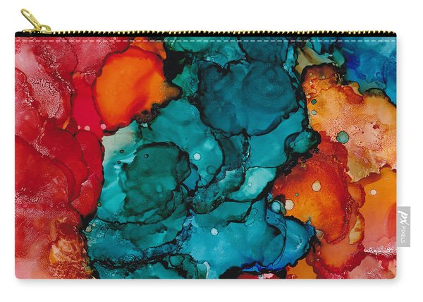 Fluid Depths Alcohol Ink Abstract Carry-all Pouch