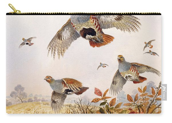 Flushed Partridges Carry-all Pouch