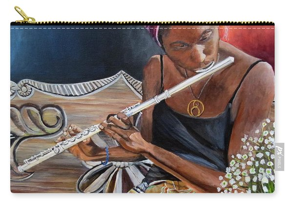 Flute Player Carry-all Pouch