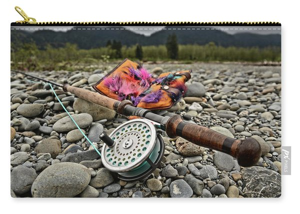 Fly Rod And Streamers Landscape Carry-all Pouch