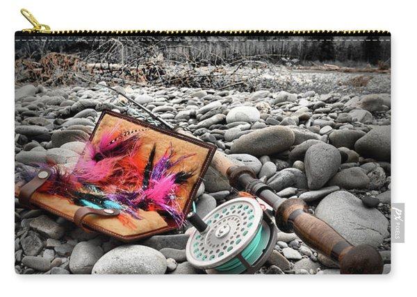 Fly Rod And Streamers Portrait Carry-all Pouch