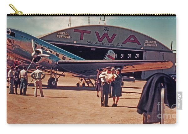 Fly Twa The Lindberg Line By Henry Bosis Carry-all Pouch