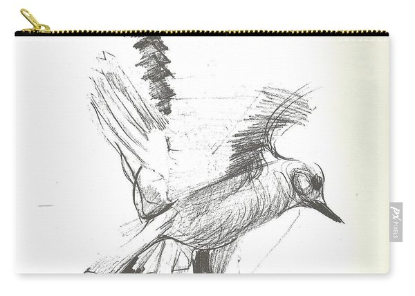 Flying Bird Sketch Carry-all Pouch