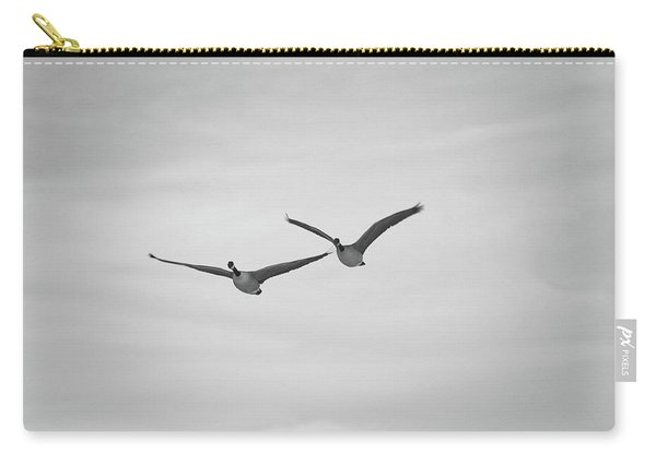 Carry-all Pouch featuring the photograph Flying Companions by Jason Coward
