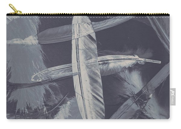 Flying Featherabstract Background Carry-all Pouch