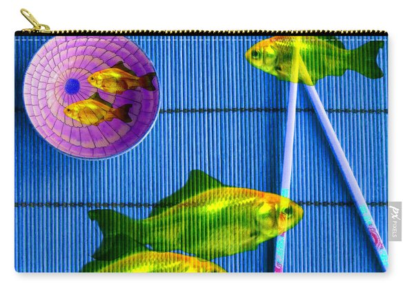 Flying Fish And The Pink Moon Carry-all Pouch