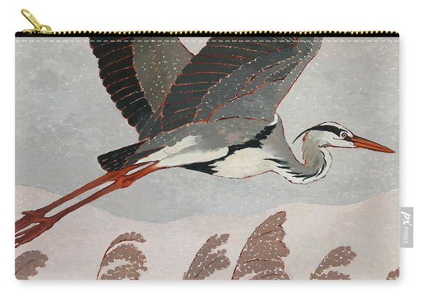Flying Heron Carry-all Pouch