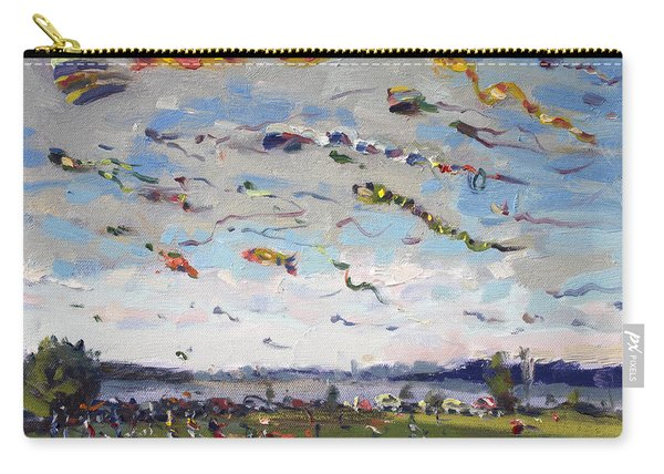 Flying Kites Over Gratwick Park Carry-all Pouch
