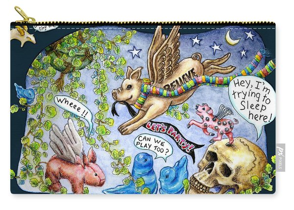 Flying Pig Party Carry-all Pouch
