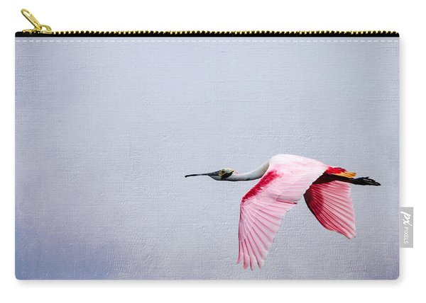 Flying Pretty - Roseate Spoonbill Carry-all Pouch