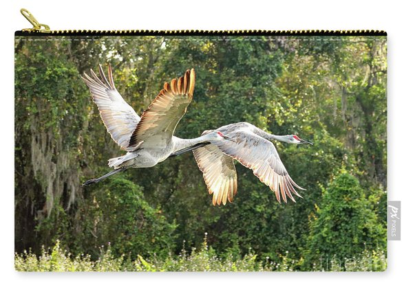 Flying Sandhill Pair Carry-all Pouch