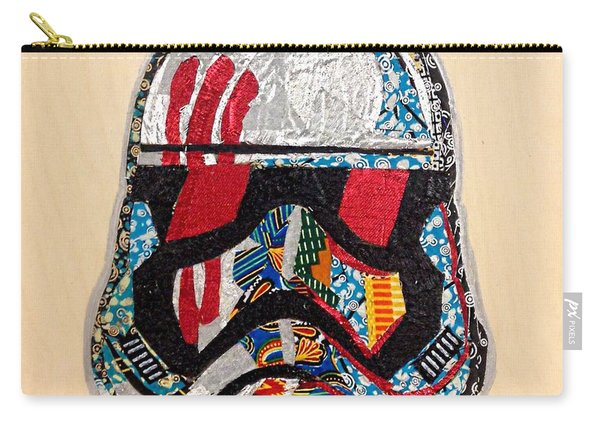 Storm Trooper Fn-2187 Helmet Star Wars Awakens Afrofuturist Collection Carry-all Pouch