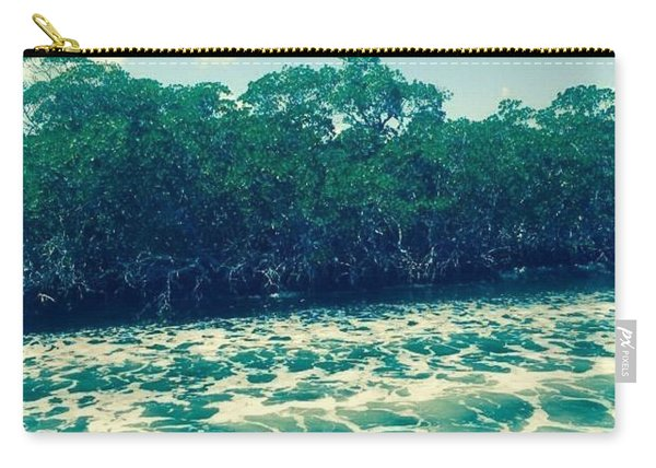 Carry-all Pouch featuring the photograph Foamy Water by Jimmy Clark