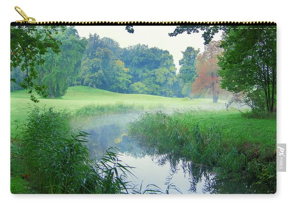 Fog Along A Creek In Autumn Carry-all Pouch