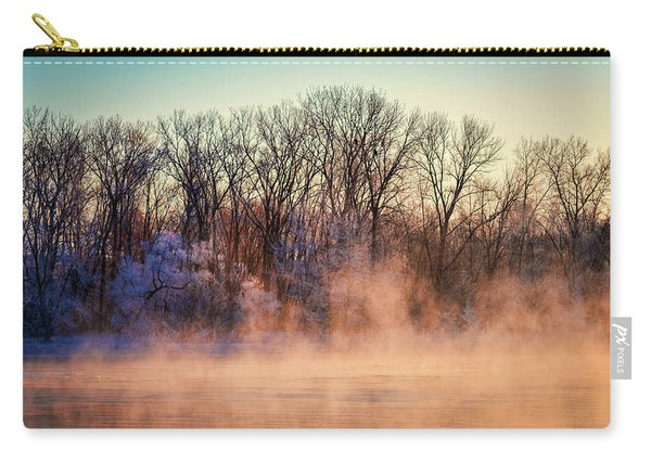 Fog And Frost On The Wisconsin River 2017-1 Carry-all Pouch