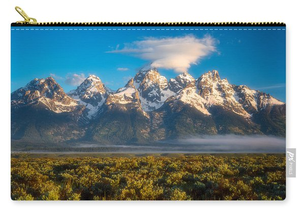 Fog At The Tetons Carry-all Pouch