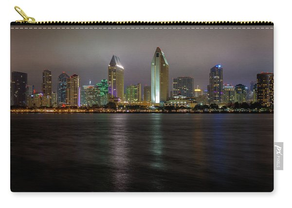 Fog Glow Over San Diego Carry-all Pouch