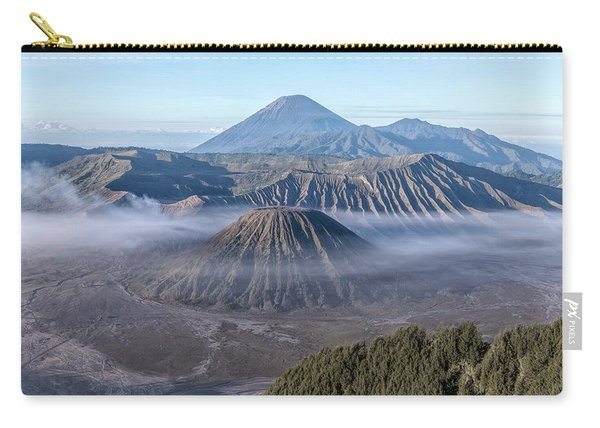 fog over Mount Bromo - Java Carry-all Pouch
