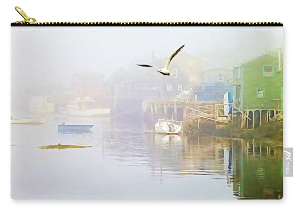 Fog Over West Dover - Digital Paint Carry-all Pouch