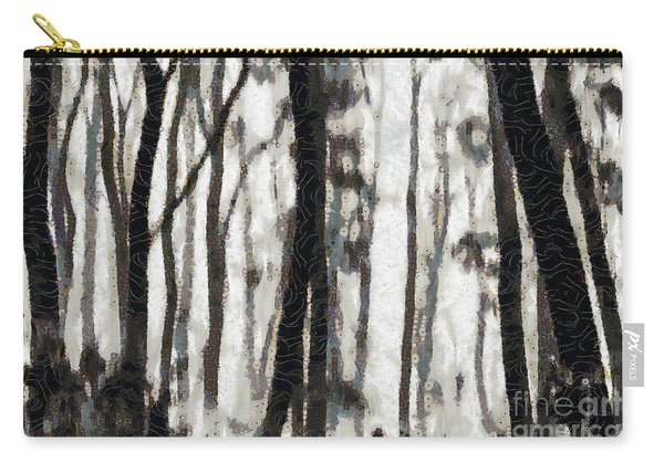 Foggy Forest Tree Paint Carry-all Pouch