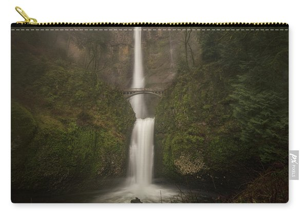 Foggy Multnomah Falls Carry-all Pouch