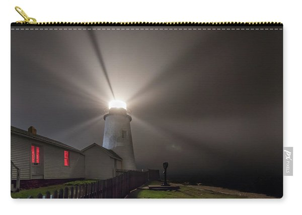 Foggy Night At Pemaquid Point Lighthouse Carry-all Pouch