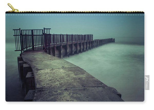 Foggy Night At Toes Beach Carry-all Pouch