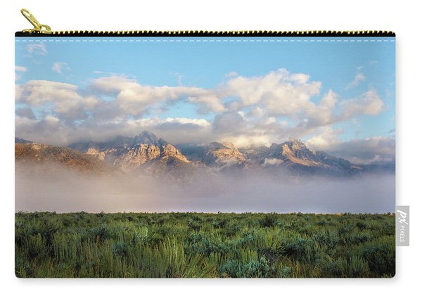 Foggy Teton Sunrise - Grand Tetons National Park Wyoming Carry-all Pouch